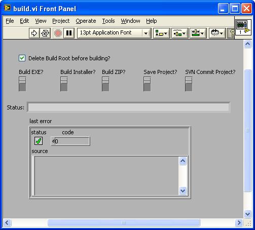 Example One-Click Build VI