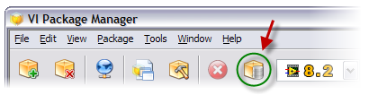 Toolbar button for opening the Repository Manager